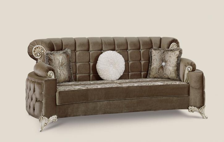Couch Uranüs 3er braun Klassik Barockstil Orient