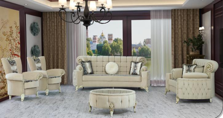 Sitzgruppe Uranüs beige Klassik Barockstil Orient