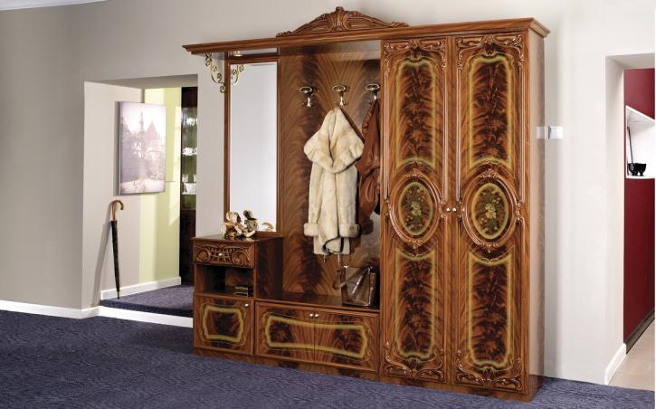 Diele Garderobe Rozza in walnuss glanz Klassick Barock