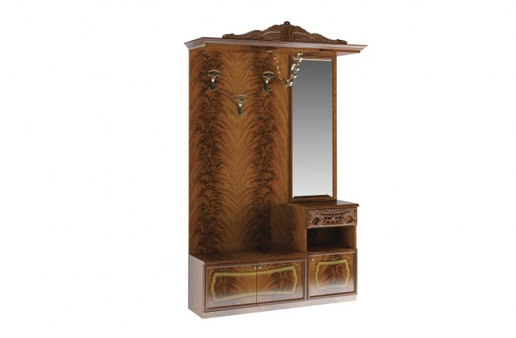 Sideboard mit Kleiderbügel und Spiegel Rozza walnuss