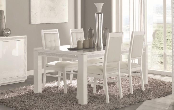 Esszimmer weiß hochglanz  Tische