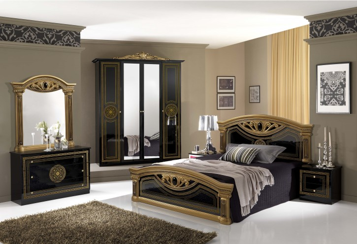 schlafzimmer giulia in schwarz gold klassik barock xp pfglcca4agold. Black Bedroom Furniture Sets. Home Design Ideas