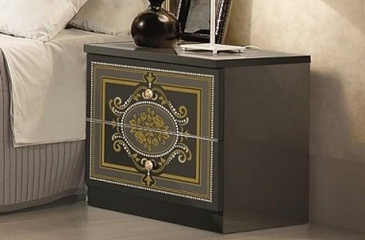 Nachtkonsole Alice in schwarz gold für Schlafzimmer