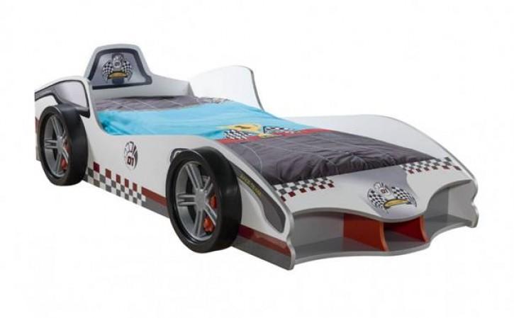 Autobett Turbo Cup weiss mit für Kinderzimmer Bett