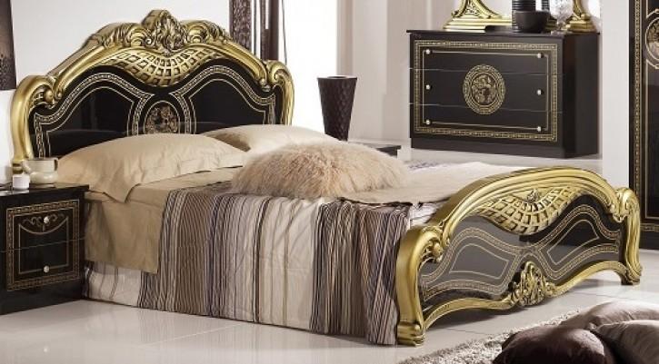 Bett 180x200 Liara in schwarz Gold Klassisch Orientalisch