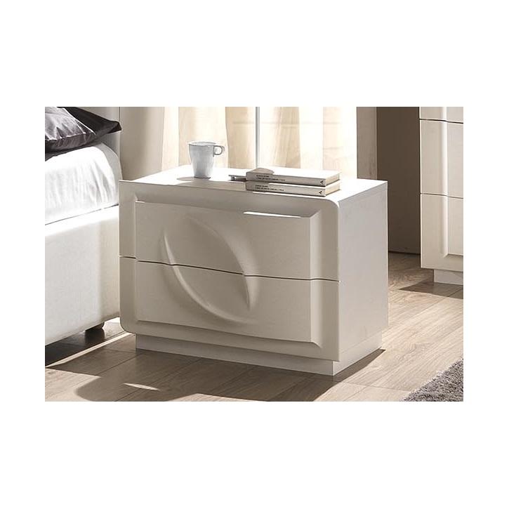 Nachtkonsole Trevia in weiss Stilvoll elegante Möbel