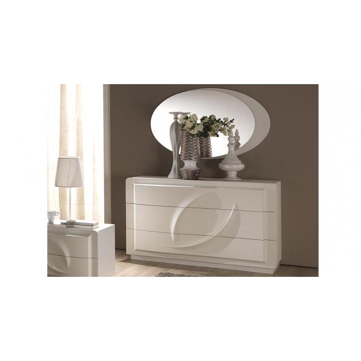 Kommode mit Spiegel Trevia in weiss Stilvoll elegante Möbel