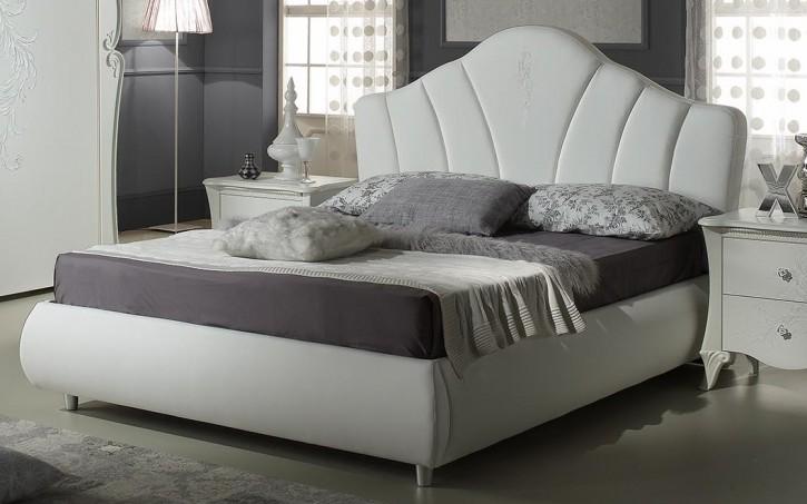 Bett 180x200 cm Doria in weiss elegant Moderne Möbel