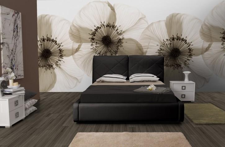 Bett Muna 180x200 cm Polsterbett in schwarz