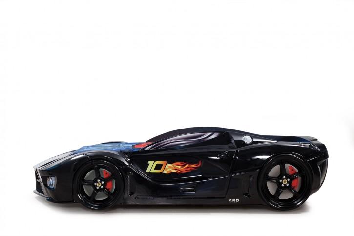 Autobett Speed in schwarz mit Frontbeleuchtung