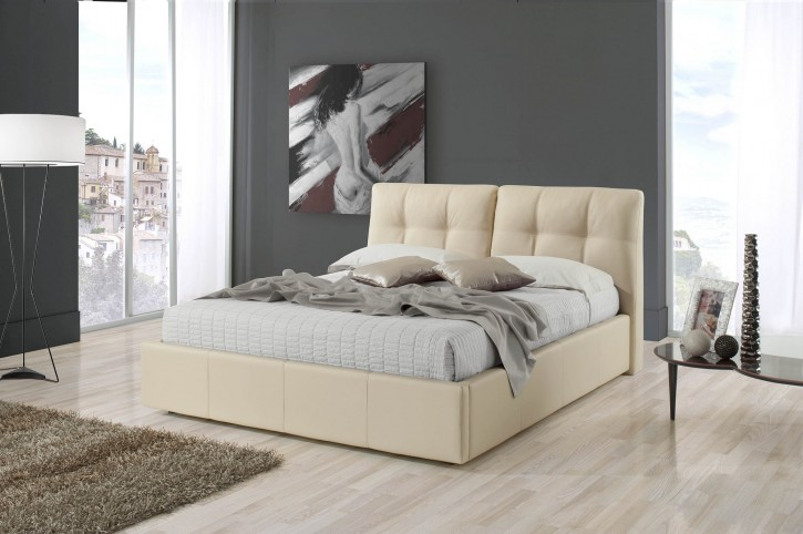 Polsterbett Melia 180x200cm in beige