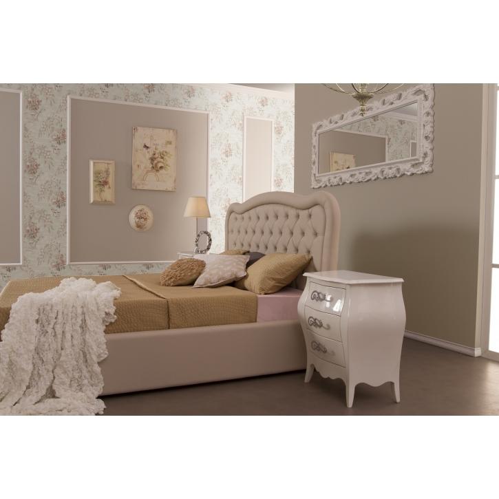 Bett Regent 160x200 cm Polsterbett in beige