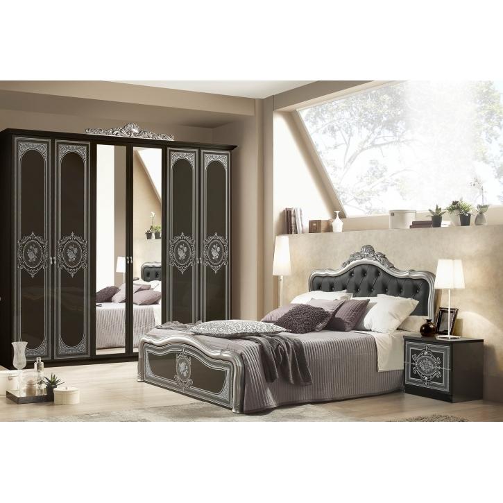 Schlafzimmer alice in schwarz silber polsterung 180x200cm 4tlg xp pfalcca4bs18 - Schlafzimmer in schwarz ...