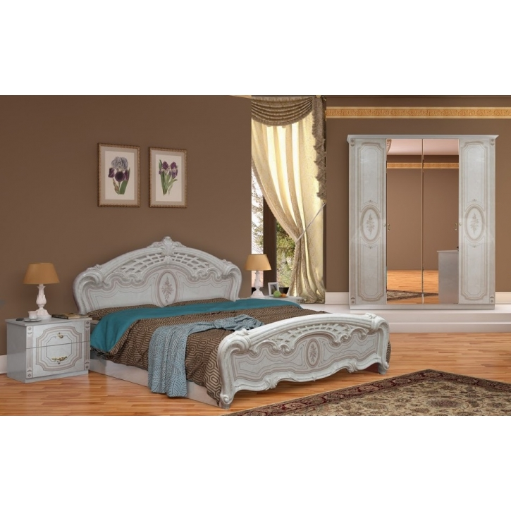 Schlafzimmer Florenz beige creme Bett 160x200 cm italienisch 4tl-ID ...