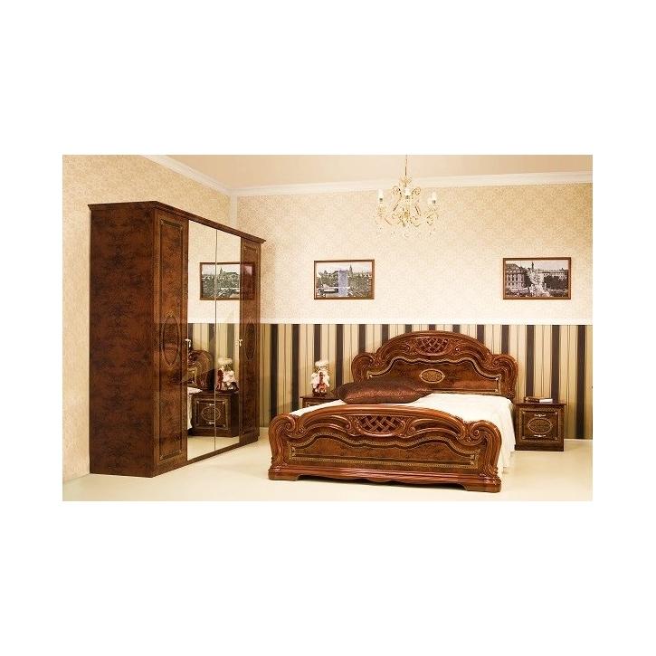 Schlafzimmer LANA walnuss klassisch Barock Stilmöbel 4tlg