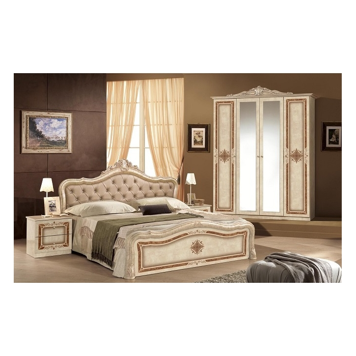 schlafzimmer lucy in beige creme klassisch braun designer 4tlg dh luisa nec rb 4a 1. Black Bedroom Furniture Sets. Home Design Ideas