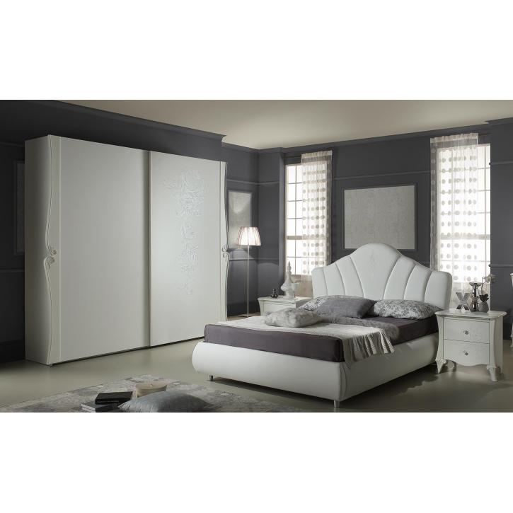 Schlafzimmer Doria in weiss elegant Moderne Möbel 4tlg