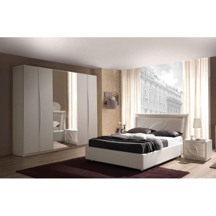 Schlafzimmer Trevia in weiss Stilvoll elegante Möbel 4tlg
