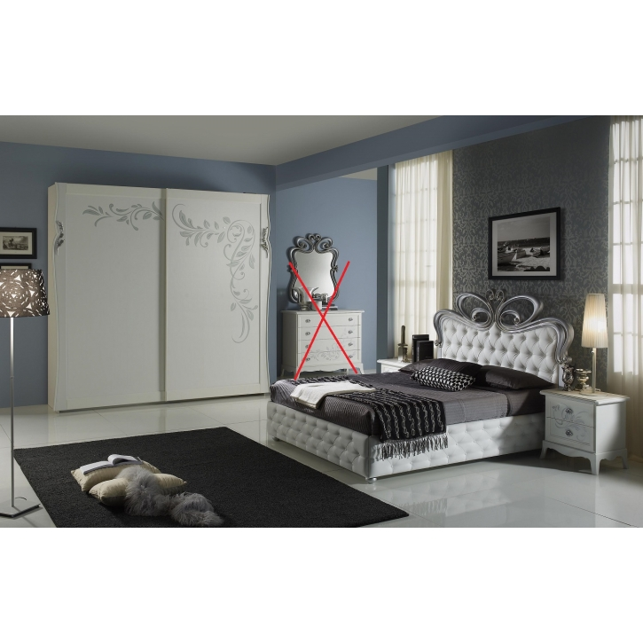 schlafzimmer perle in weiss creme luxus 4tlg pe 160 2 2nk. Black Bedroom Furniture Sets. Home Design Ideas