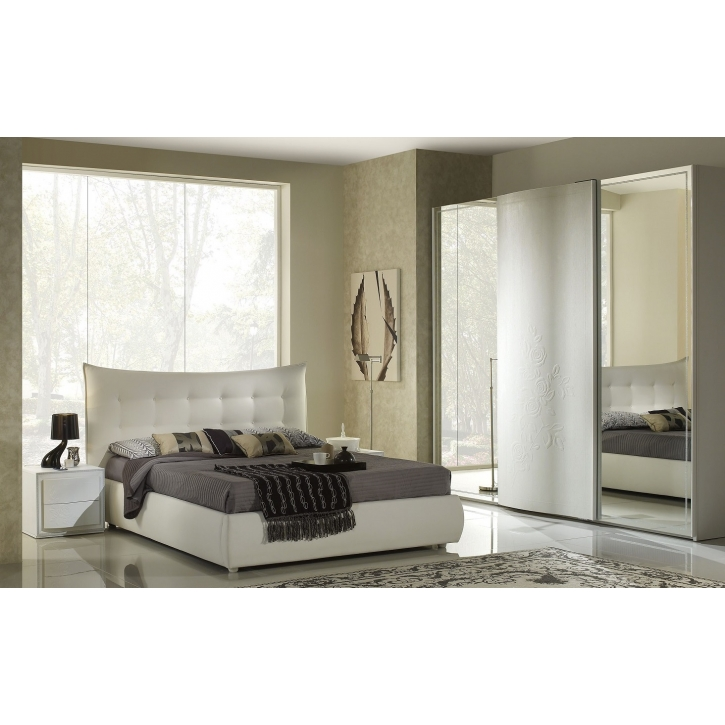 Schlafzimmer Chana Stauraum Bett Taila 160x 200 cm weiss 4tlg