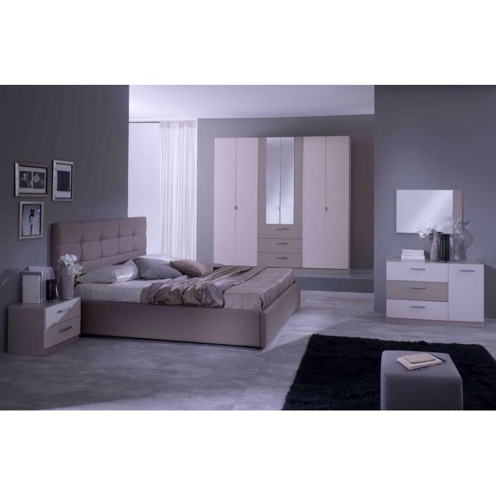 Schlafzimmer Prima In Braun Weiss 5tlg Modern