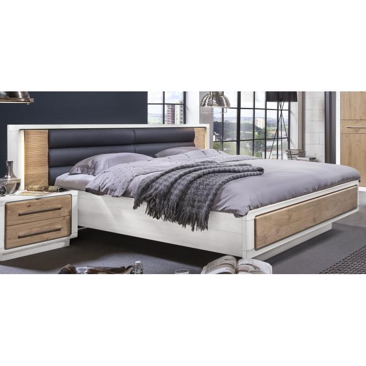bett 160x200 cm elba asteiche bianco pinie wei teilmassiv 50 ew lb type 52. Black Bedroom Furniture Sets. Home Design Ideas