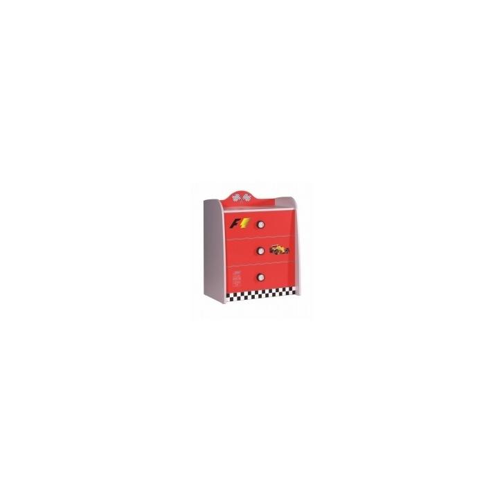 Wäschekommode Turbo in rot für Autobetten Ausstellungsstück Nur
