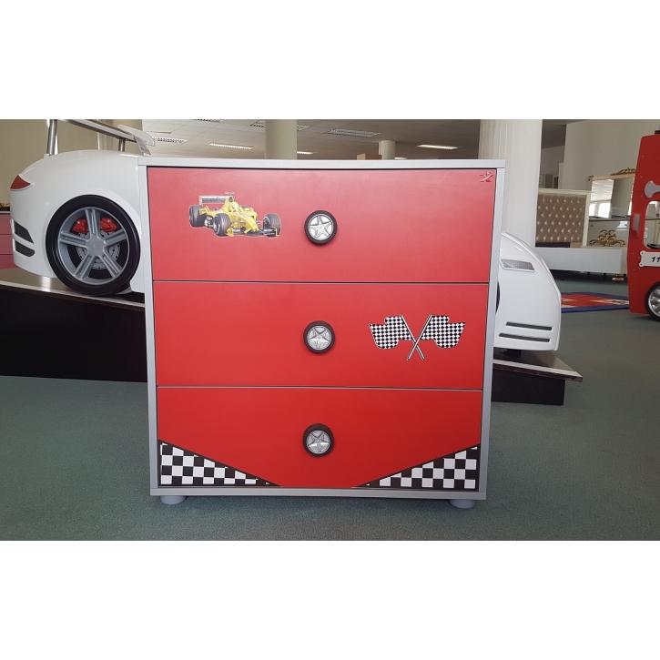 Wäschekommode Turbo Classic in rot für Autobetten Ausstellungsst
