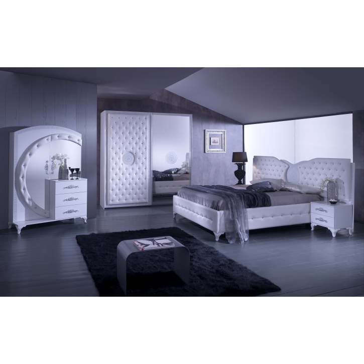 schlafzimmer anatalia in weiss silber modern ana set01. Black Bedroom Furniture Sets. Home Design Ideas