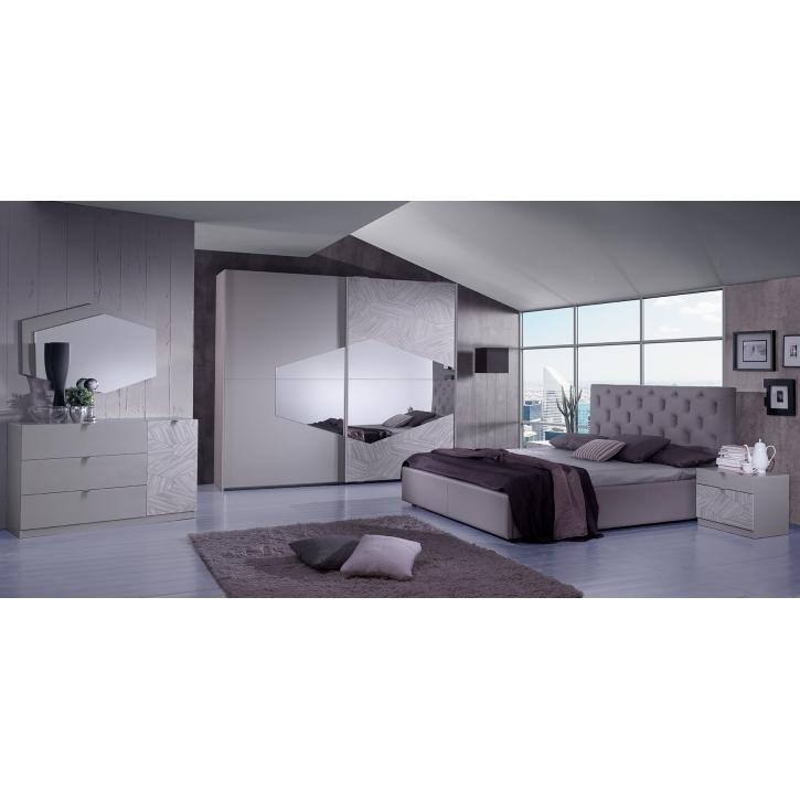 Schlafzimmer Firenze in braun modern Bett 180
