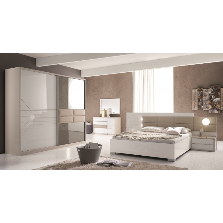 schlafzimmer tijana in beige weiss 6tlg tij set01. Black Bedroom Furniture Sets. Home Design Ideas