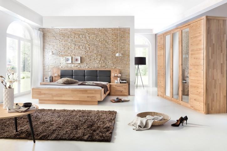 Micaja - 4-teiliges Schlafzimmer-Set Eiche bianco