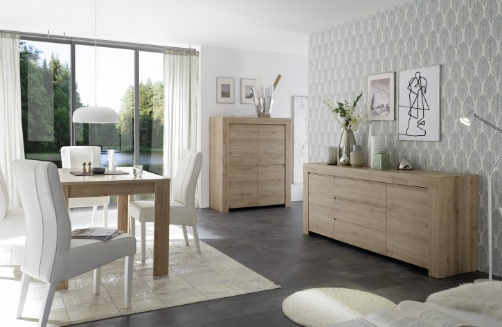 Esszimmer Set Fren in eiche Highboard