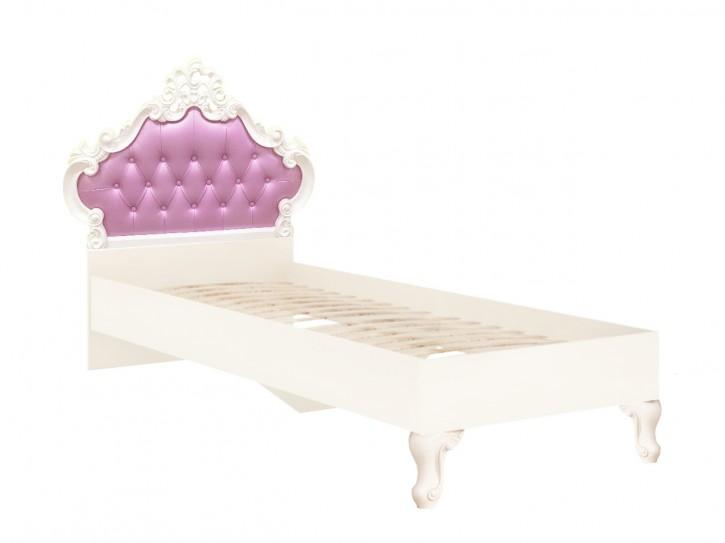 Mädchenbett Prinzessinbett Marie 90x200cm  in Weiss Lila
