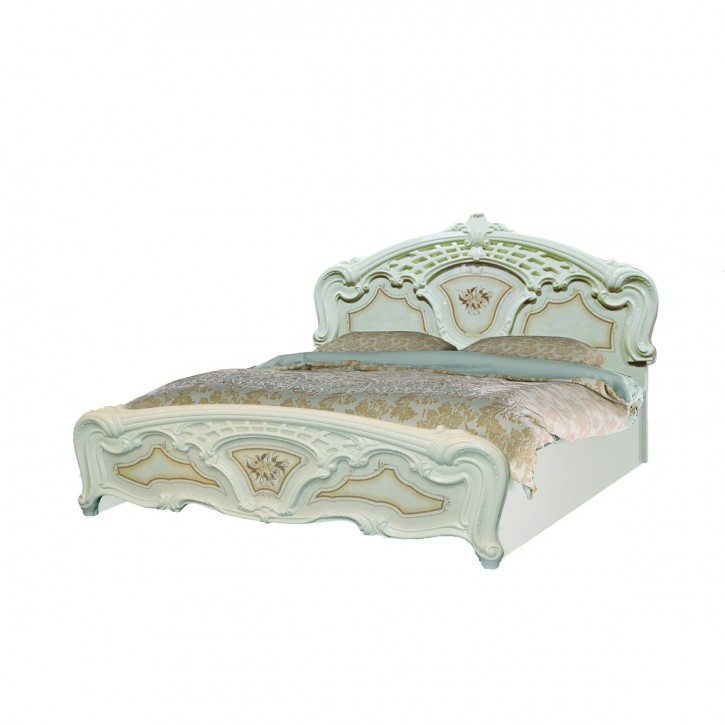 Bett 180x200cm Rozza beige creme Italien Klassik Barock Design