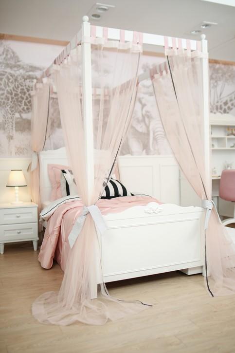Himmelbett Lora 100 x200 cm mit Vorhang