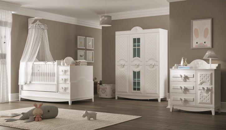 Babyzimmer Ribbon komplett in weiß