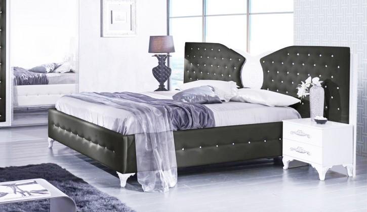 Bett Anatalia in Schwarz Weiss Luxus Design