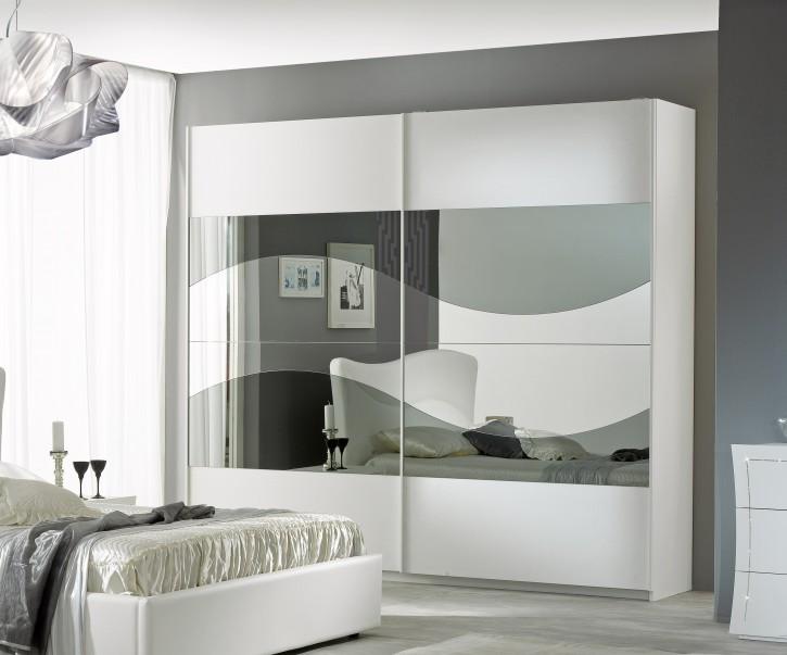 Schiebetürenschrank Aurora 2trg. in Weiß Modern Design