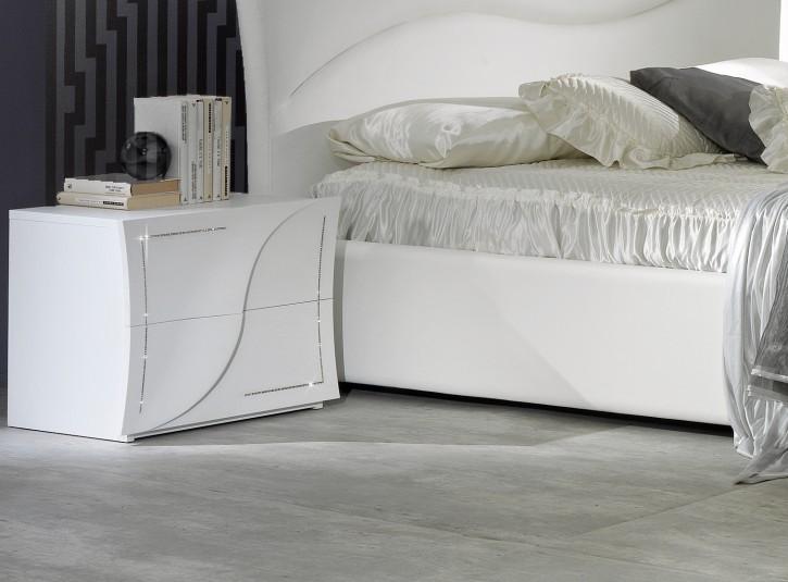 Nachtkonsole Aurora 2er Set in Weiß Modern