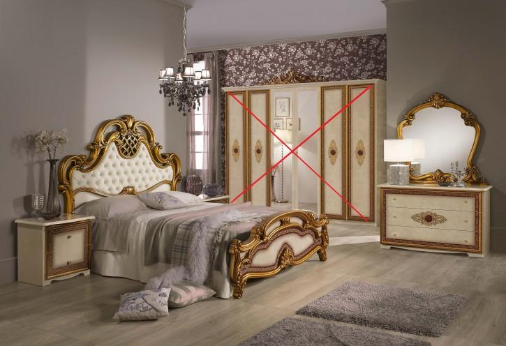 Schlafzimmer Set Agata in Beige Gold SALE SALE SALE