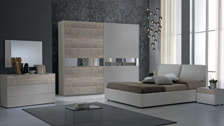 Schlafzimmer Set Agata in Grau Braun Modern Design