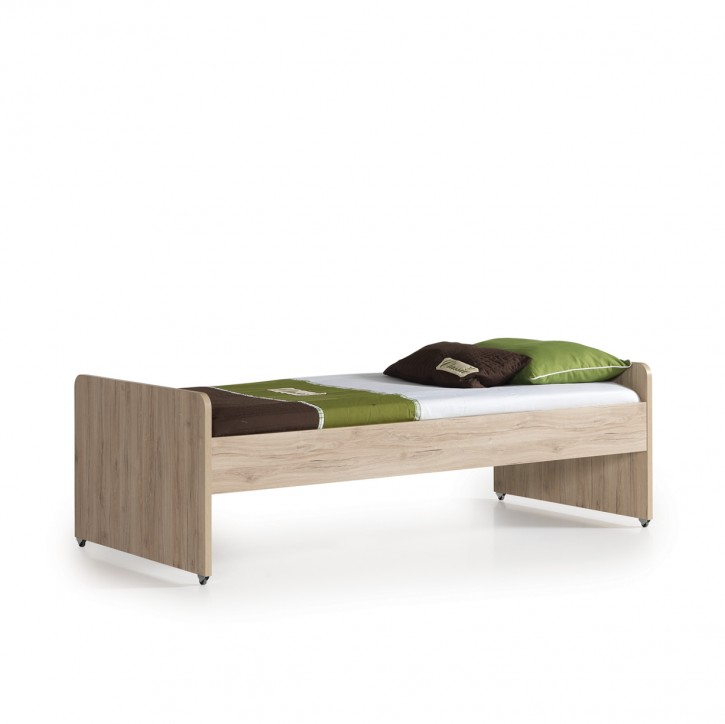 Alfa Bett mit Bettkasten in Natur Braun