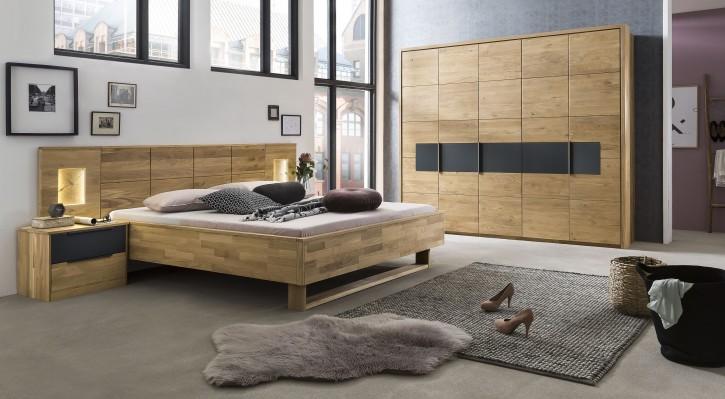Schlafzimmer Alena Eiche anthrazit matt Holz