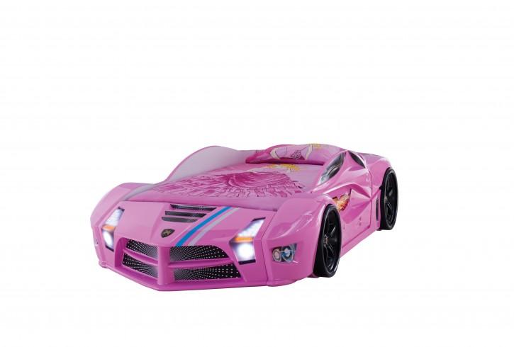 Autobett Luxury Standart in Pink mit Frontbeleuchtung
