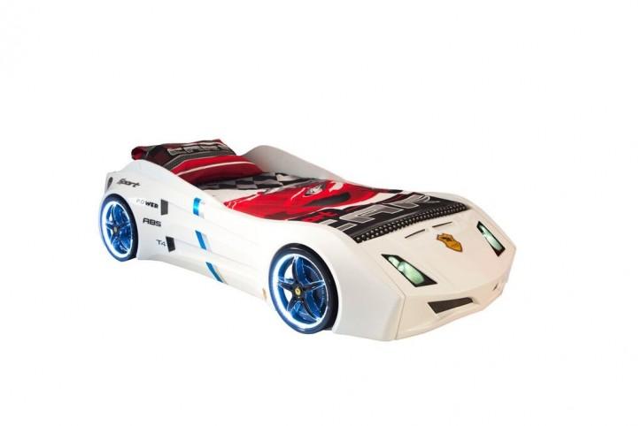 Autobett Garage Car mit Beleuchtung und Sound