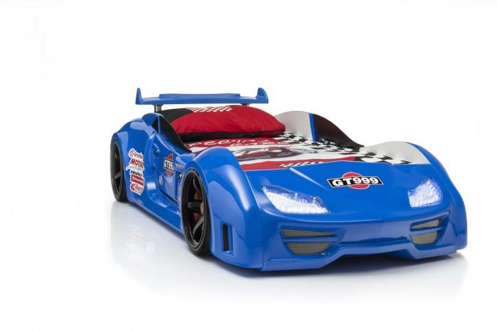 Autobett Turbo GT in Blau mit Sound und LED Beleuchtung