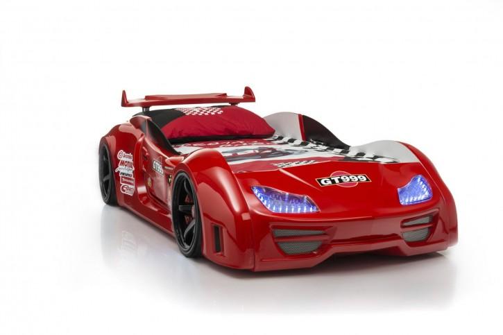 Autobett Turbo GT in Rot mit Sound und LED Beleuchtung
