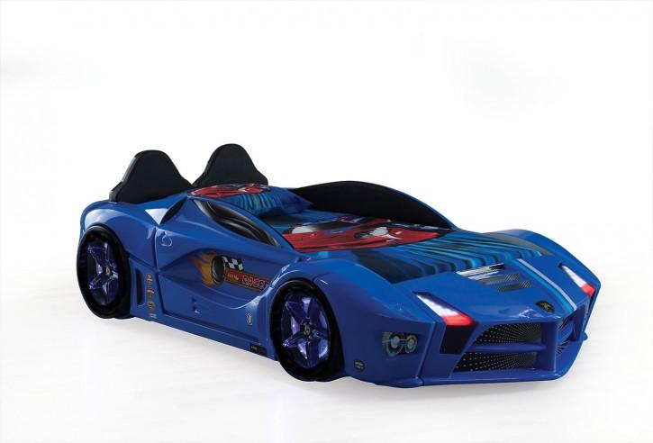 Autobett Luxury mit Polsterung Blau inkl Front LED