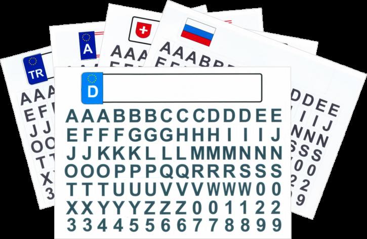 Kfz Kennzeichen für Autobett mit Buchstaben